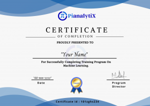 PIANALYTIX COURSE COMPLETION CERTIFICATE